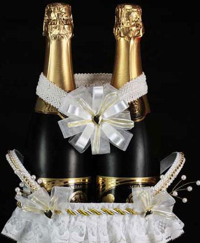 Шампанское на свадьбу как перевязать