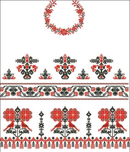Венчальный рушник схема