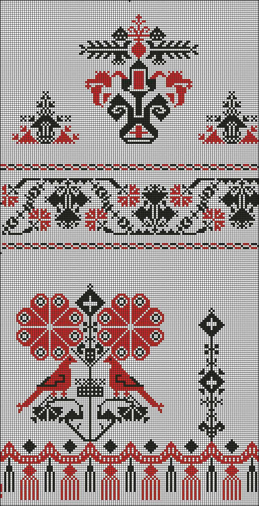 Схема вышивки для свадебного полотенца